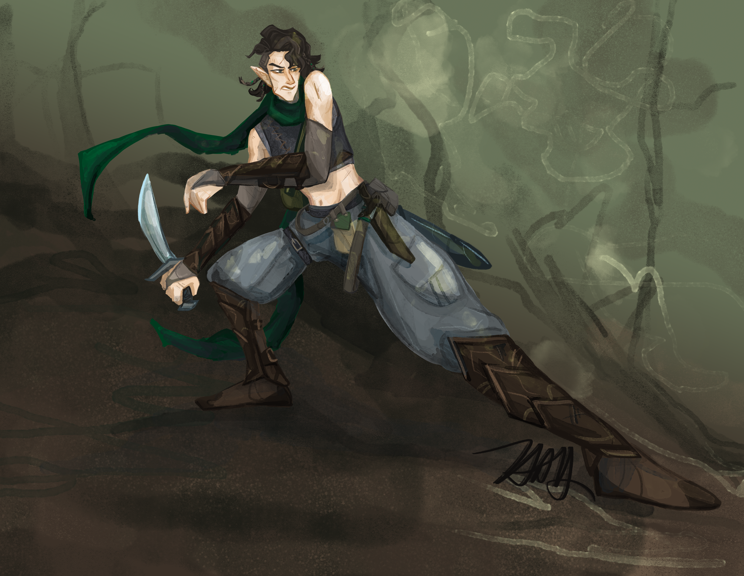 Rogue Character Painting commission