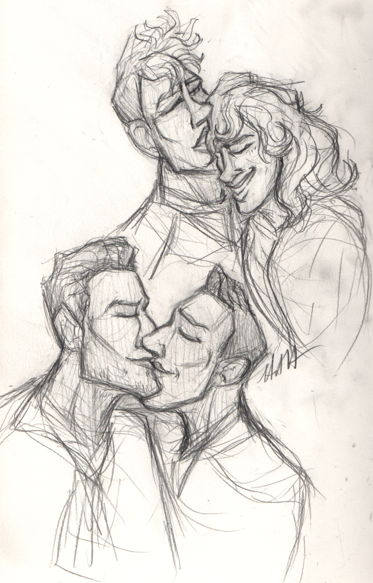 Couples Sketchbook page