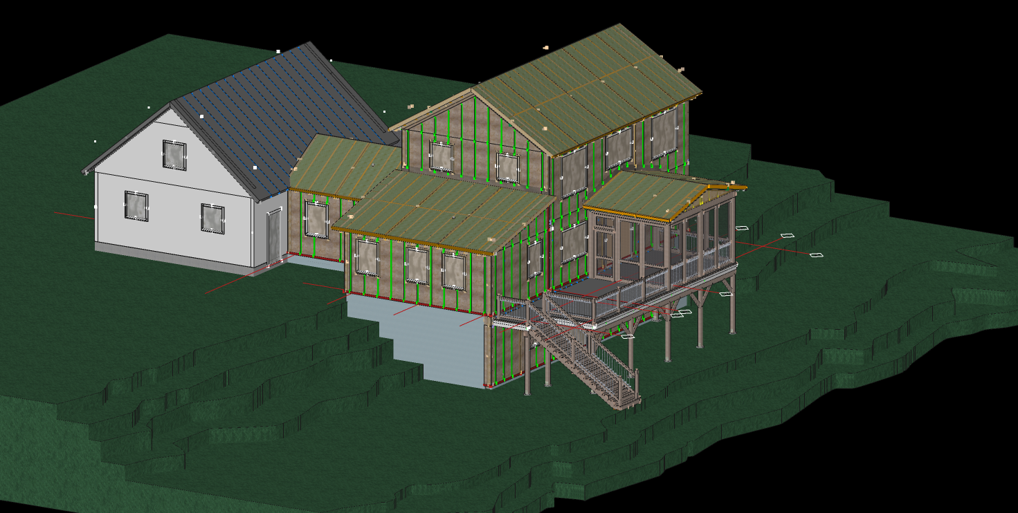 Engineering 3D-VARM Model of New House Being Built - Rose Douglas Lane, Brunswick, Maine - May-June Completion