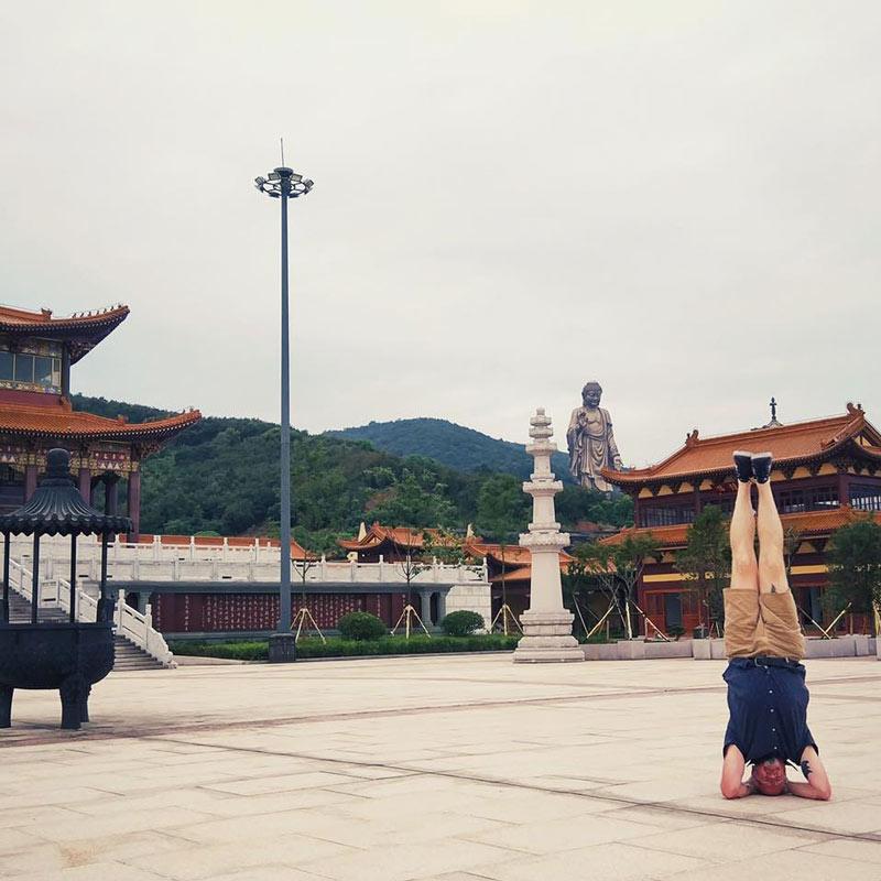 James Wood yoga in China