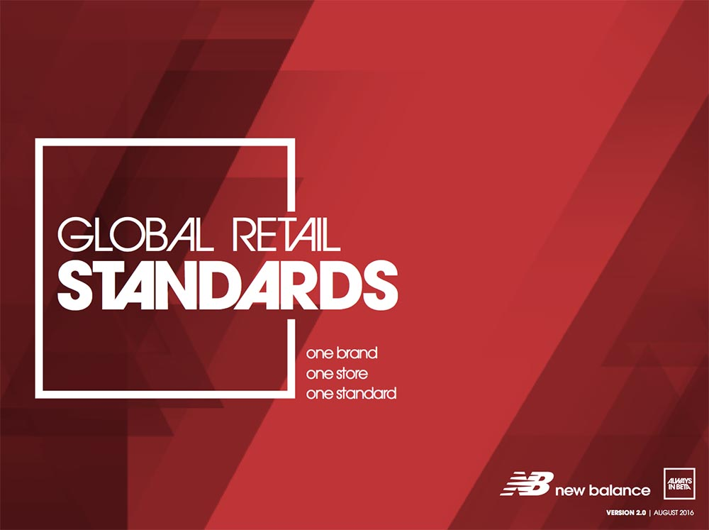 Standards Guide - The Visual Standards Guide was developed as the foundational building block for merchandising stores, flagship to shop-in-shop. It explains the basics from zoning a store to folding and merchandising a collection. It includes the complete kit of parts needed to help bring to life our brand in-store.