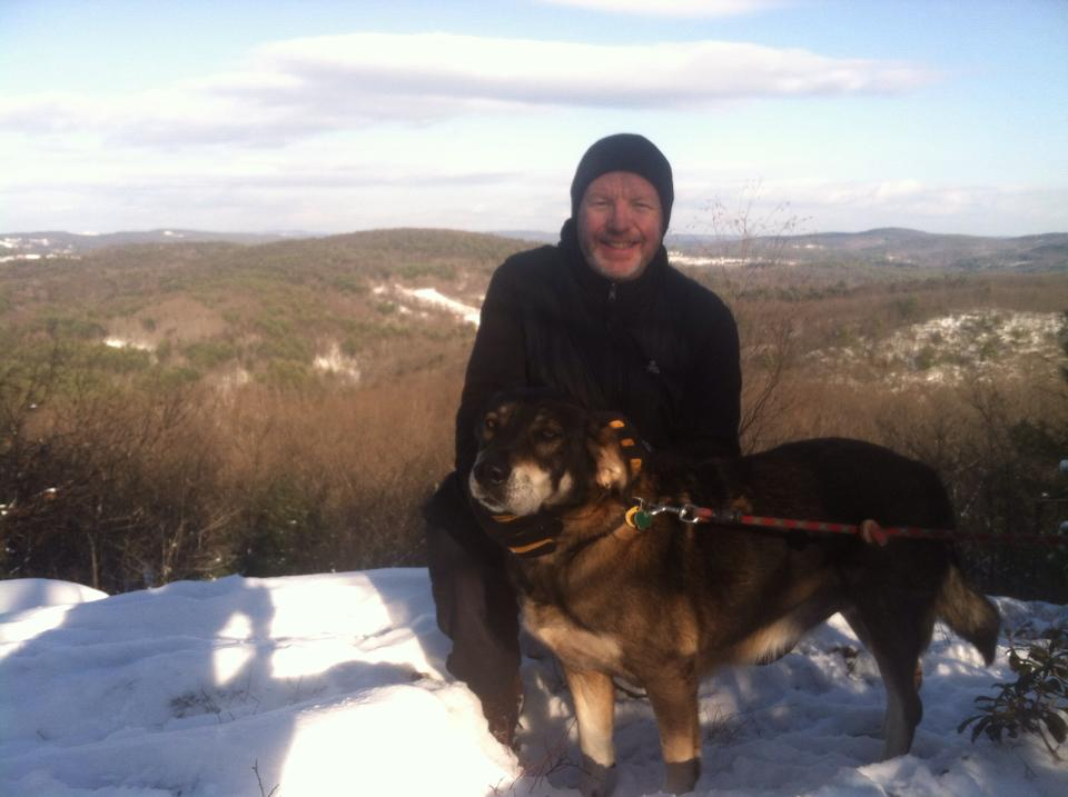 James Wood hiking in New England