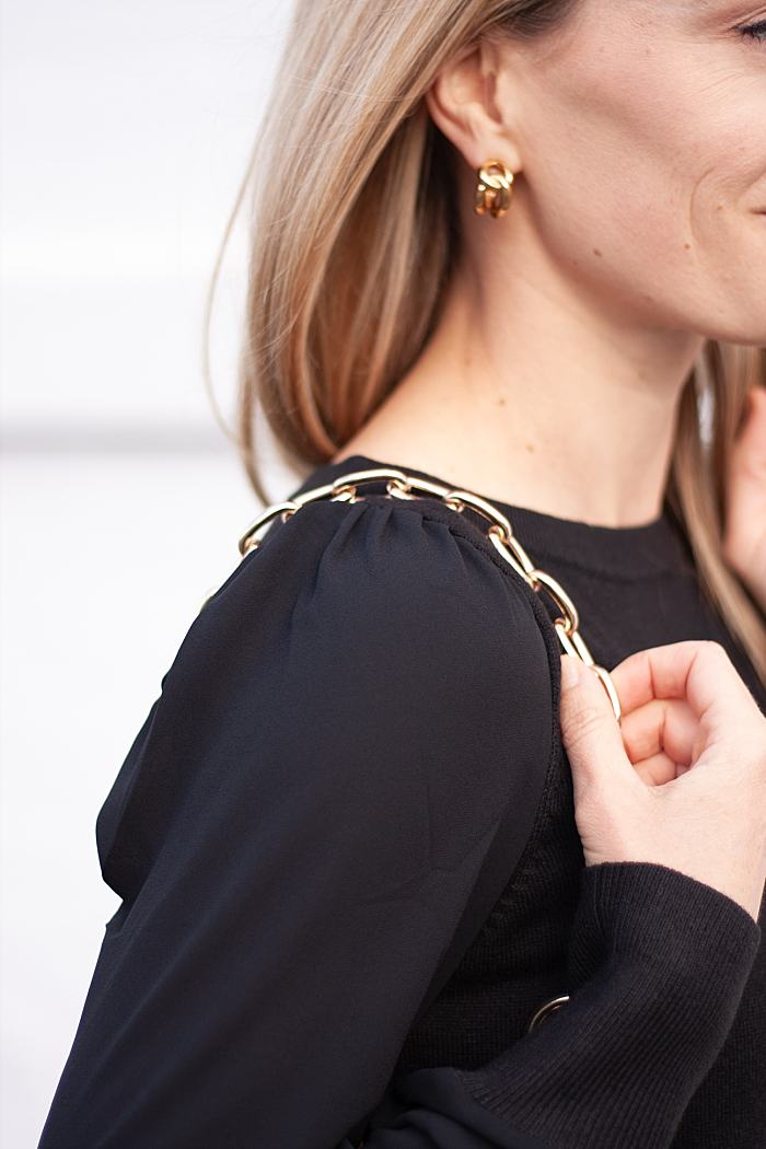 Ann Taylor Loft Black Dress-Chain Link Earring_0100.jpg