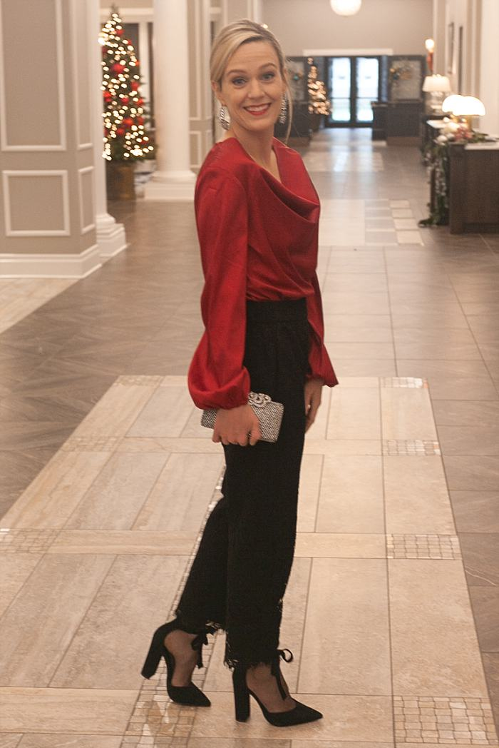 Christmas Concealed Carry Outfit . Holiday Party . Cherry Blouse . Lace Crop Pants_0179.jpg