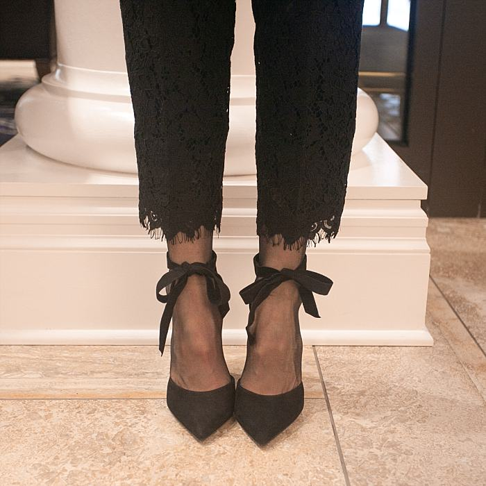 Christmas Concealed Carry Outfit . Holiday Party . Lace Crop Pants . Ankle Bow Strap Pumps_0182.jpg