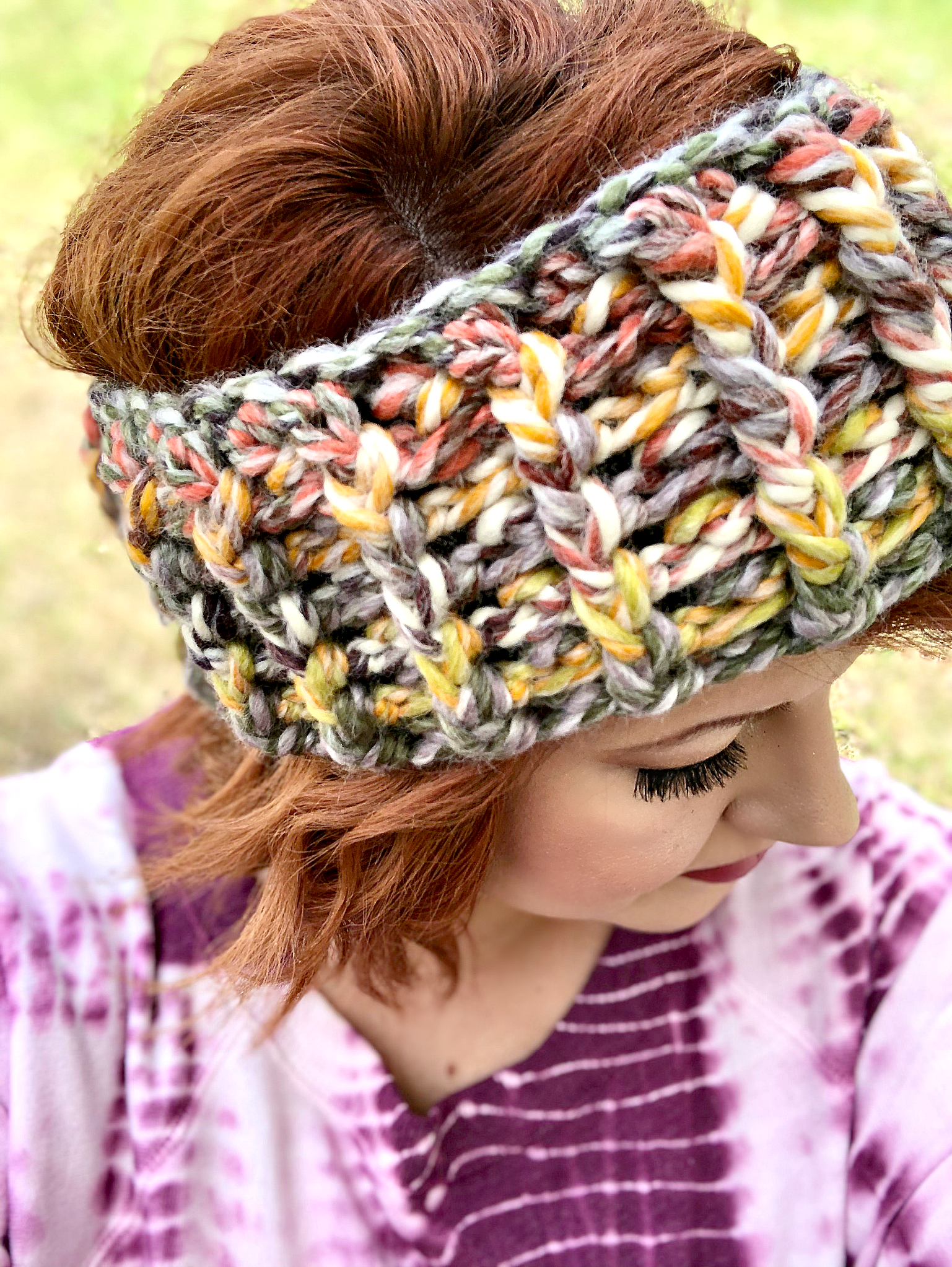 Alpine Ridge Headband and Hat Crochet Pattern