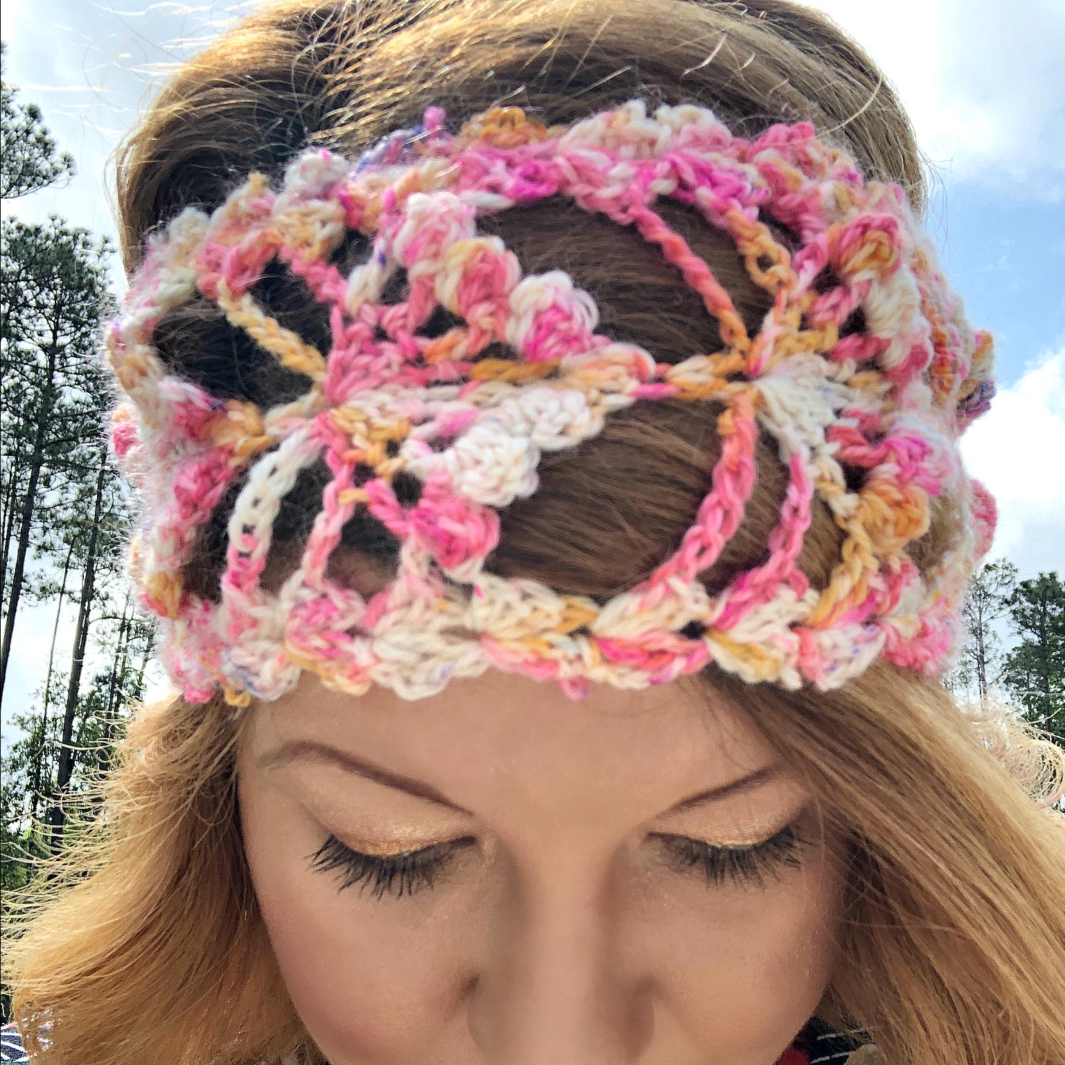 Wildflower Headband Crochet Pattern