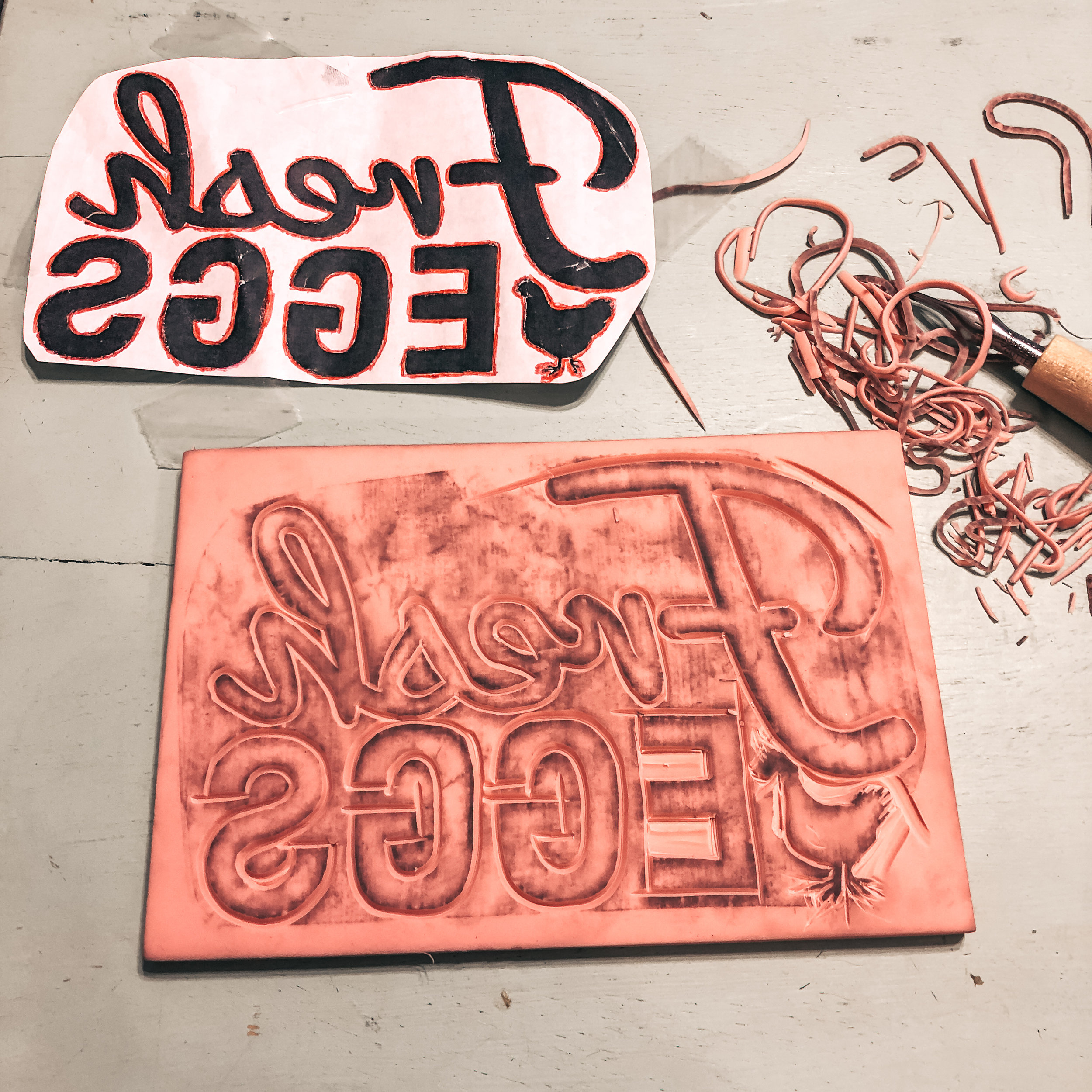 Carved Stamp Tutorial - Learn - The Roving Nomad