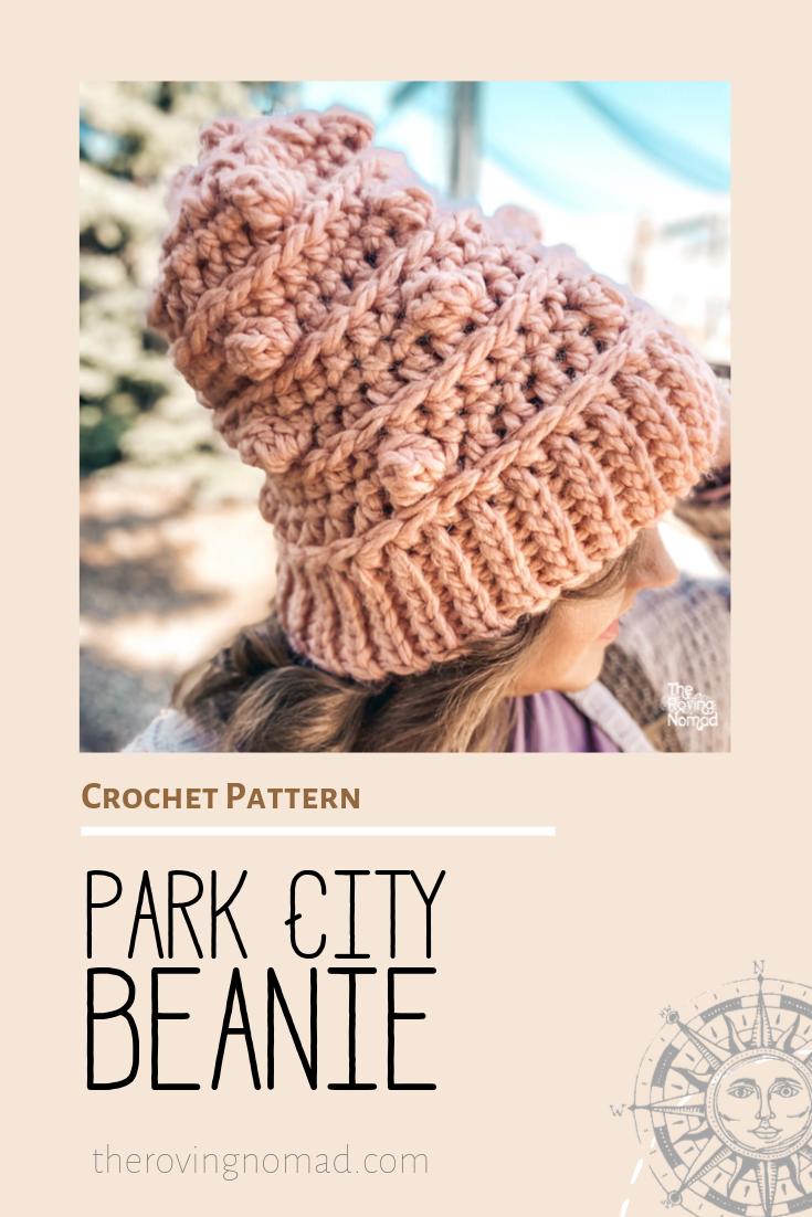 Park City Beanie - Crochet Pattern - The Roving Nomad