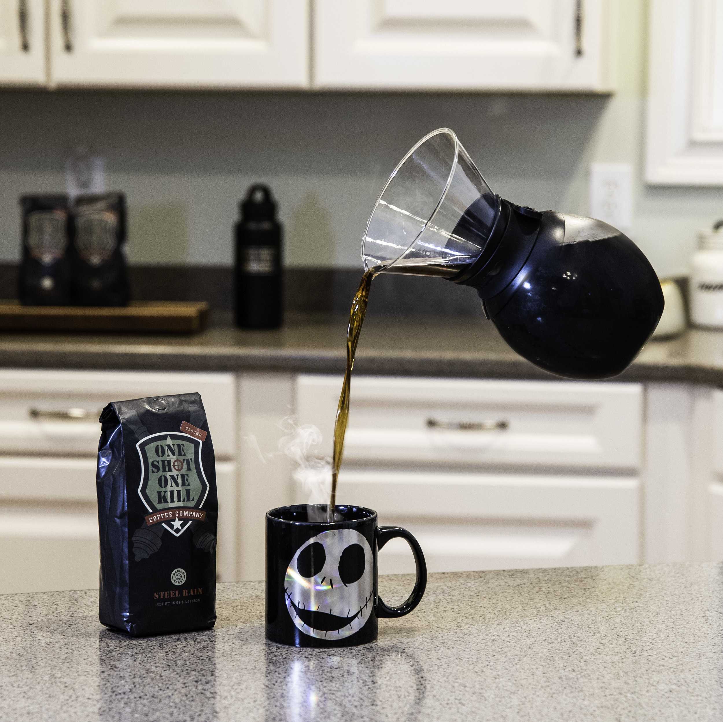 Sometimes you just don't exist before coffee. - Happy Halloween from 1 Shot 1 Kill Coffee.