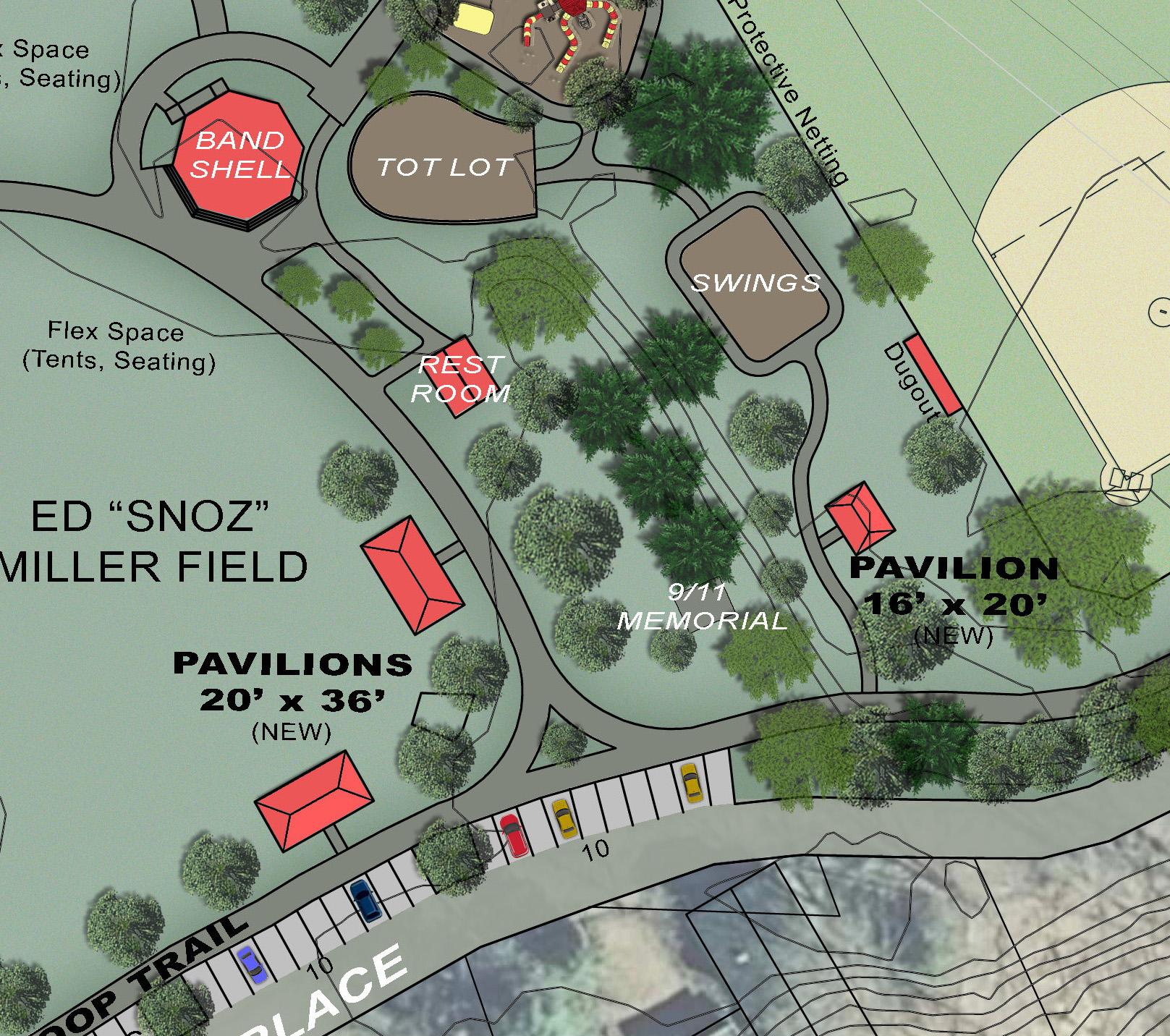 Proposed Gazebo Repairs & New Pavilions -