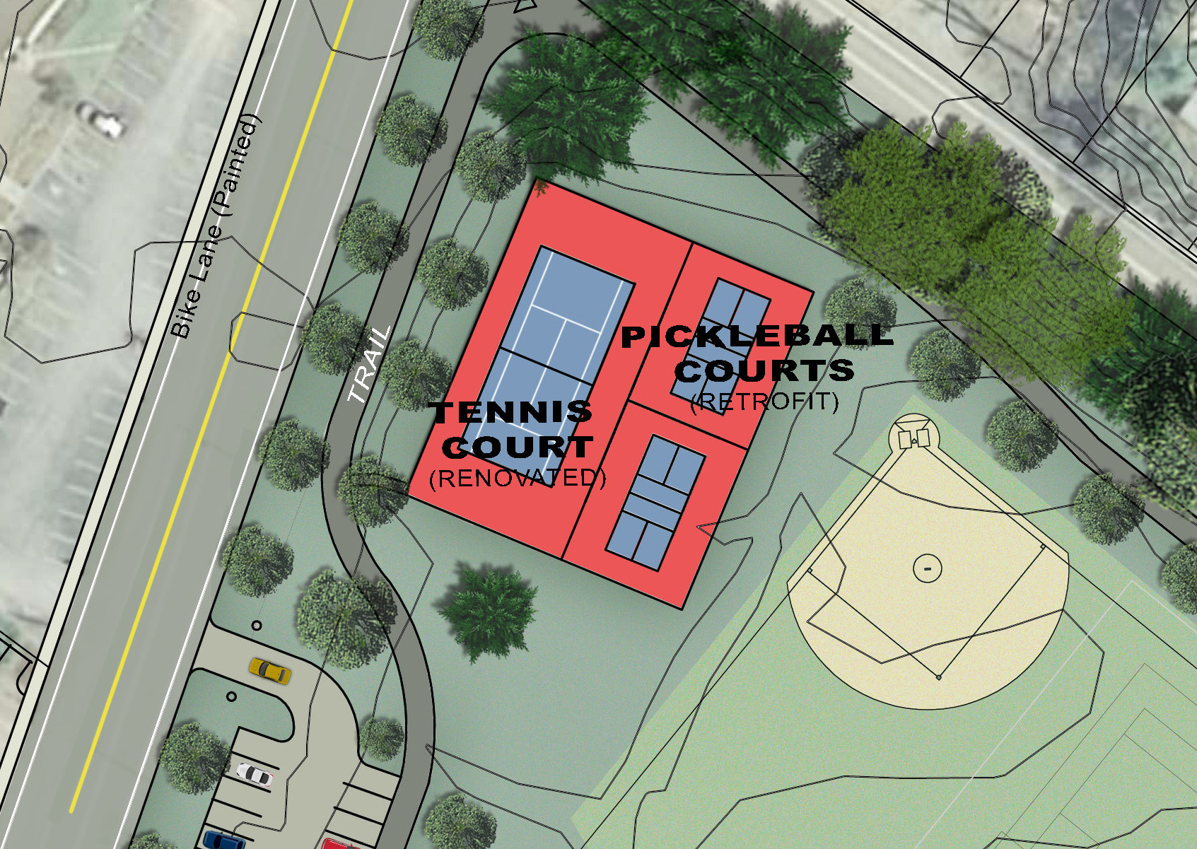 Proposed Renovated Court -