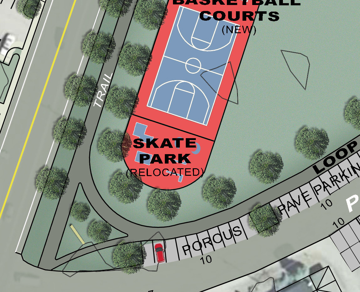 Proposed Renovated Skate Park - Relocated across from Police Station
