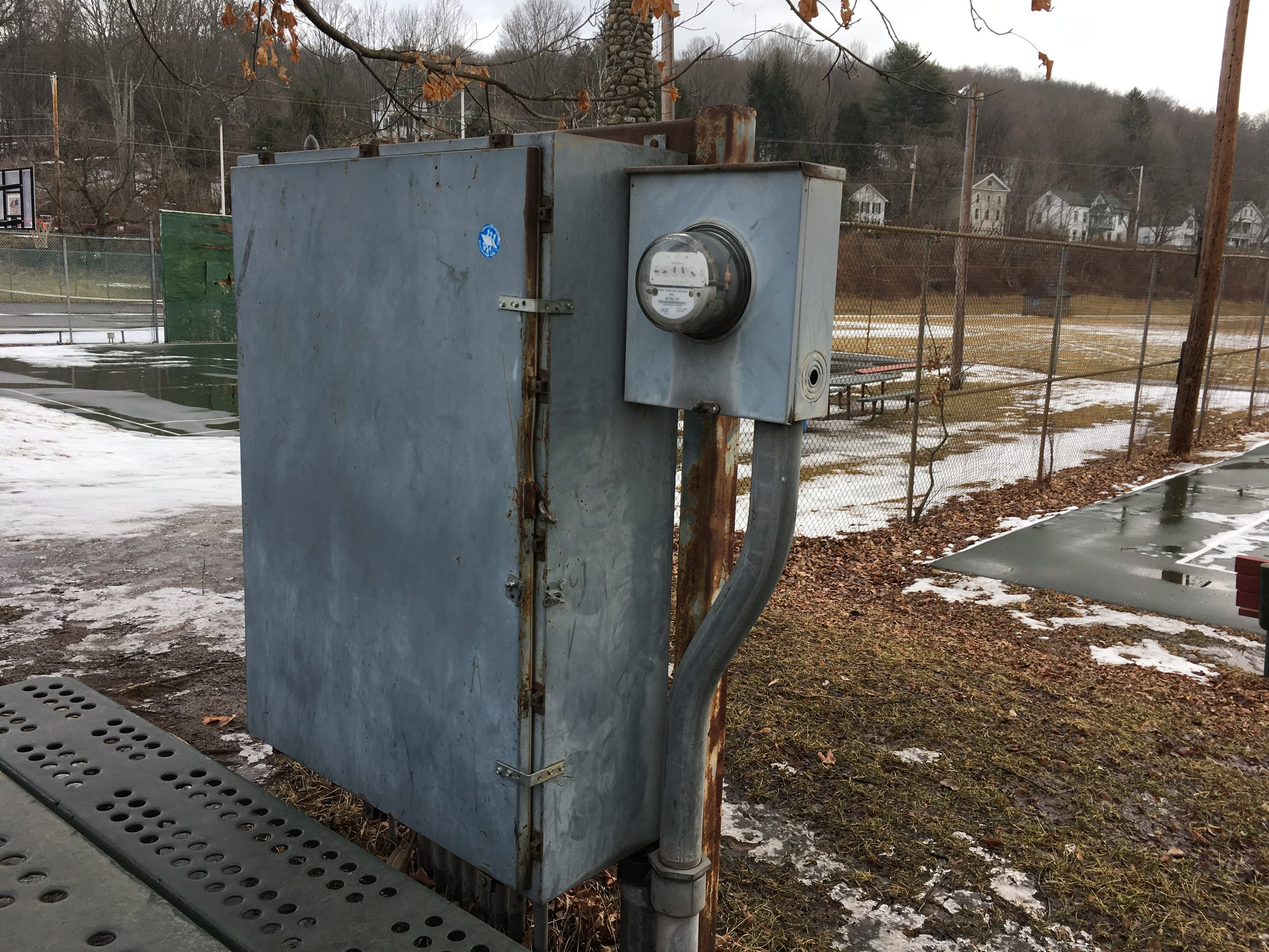 Current Condition - Electric Box is not tamper-proof