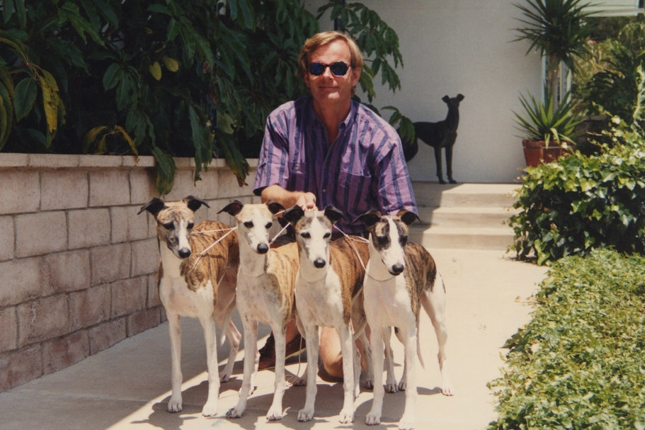 Bo with four All-Breed and/or Specialty BIS winners in the 1990s: from left, BIS & SBIS Ch. Bohem Moonshine Lullaby, BIS & SBIS Ch. Bohem Delacreme Demoiselle, Multiple SBIS Ch. Whippoorwill Bohem Aria and BIS Ch. Bohem Of Thee I Sing.