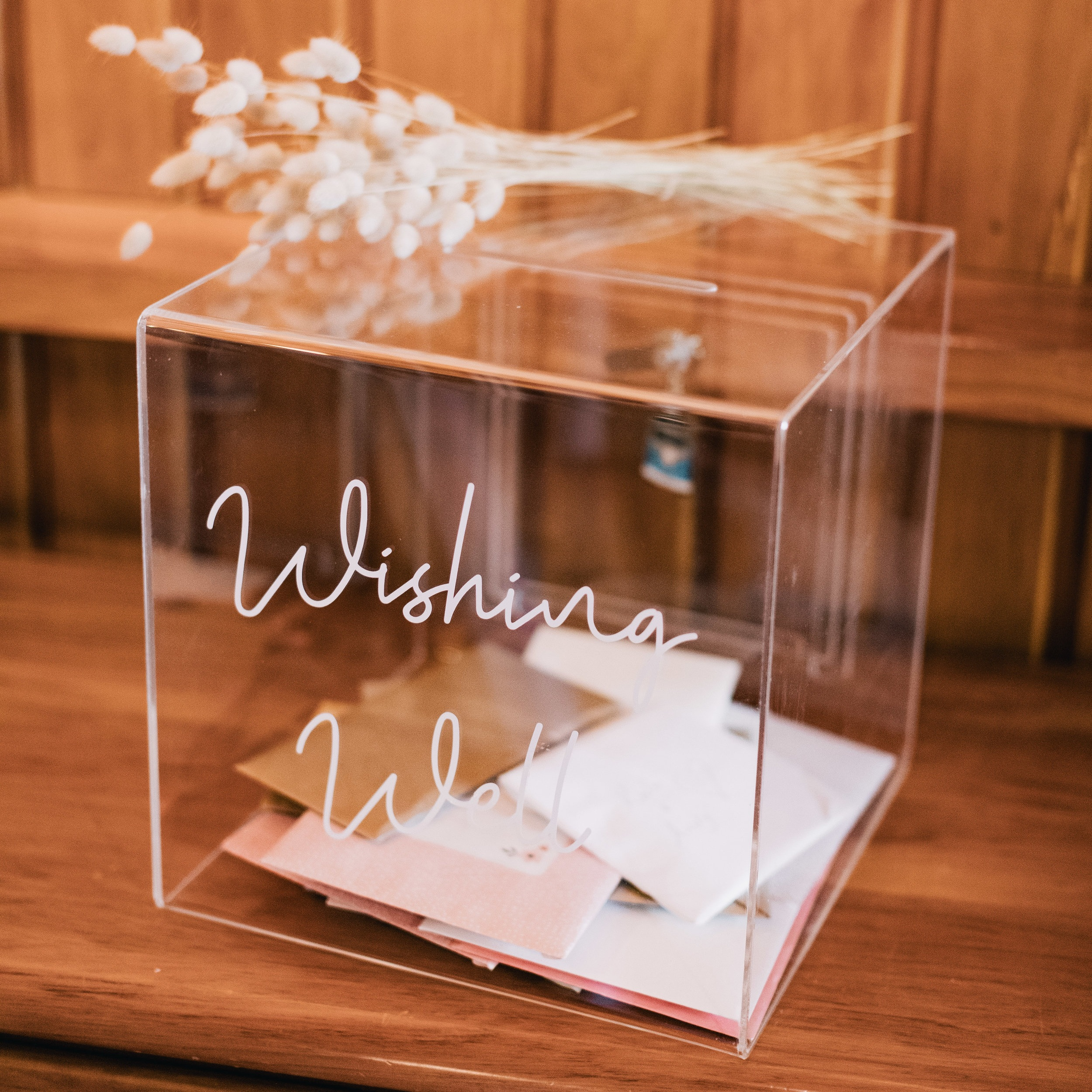 Acrylic Wishing Well - Secure your cards in this pretty wee lockable box