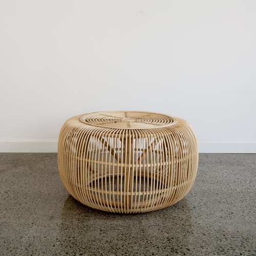 rattan side table - $30