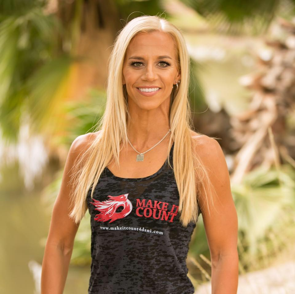Hi, I am Dani. - I am a business owner, personal trainer, competitive athlete, motivational speaker, DREAMER and FIGHTER.My hope is you will find this website as a helpful and motivation tool that anything is possible.Learn More