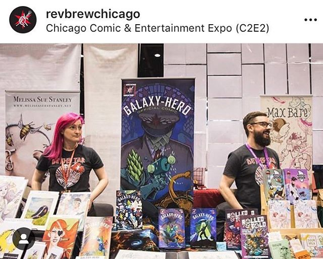 For real, this is one of our favorite parts of the year. We get to spend a weekend with @revbrewchicago celebrating comics, beer, art, and Chicago. We're so happy to be a part of this project and the RevBrew fam. Big thanks and love. ❤️🍻🚀