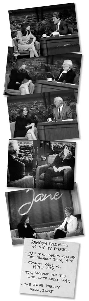 A montage of some of Guisewite's TV appearances (click to enlarge).