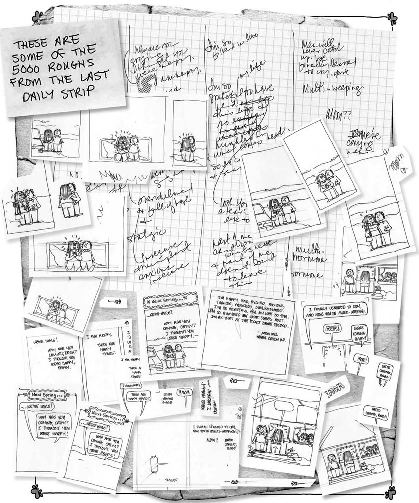 Roughs for the last Cathy daily.