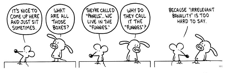 Pastis' commentary on the state of the comics page (click to enlarge)