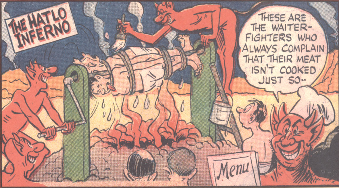 An example of another Hatlo strip,  The Hatlo Inferno