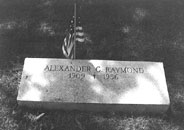 Alex Raymond's gravesite, St. John's Roman Catholic Cemetary, Stamford, Conn. (photo by and courtesy of Tom Roberts)