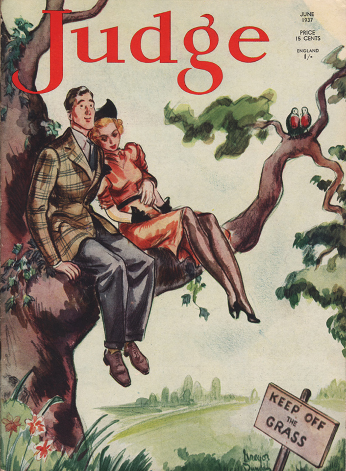 Duncan's June 1937  Judge  cover