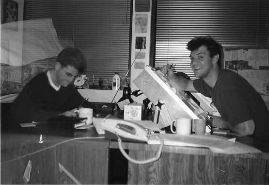 From the Rocko's Modern Life days: Mark O' Hare (left) and Derek Drymon.