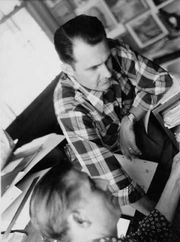Gene Hazelton (top) and Dick Bickenback, 1950s.