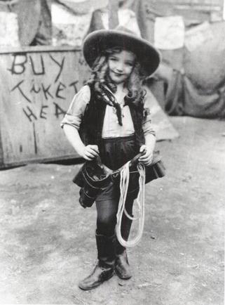 """Davis in her """"Alice"""" years."""