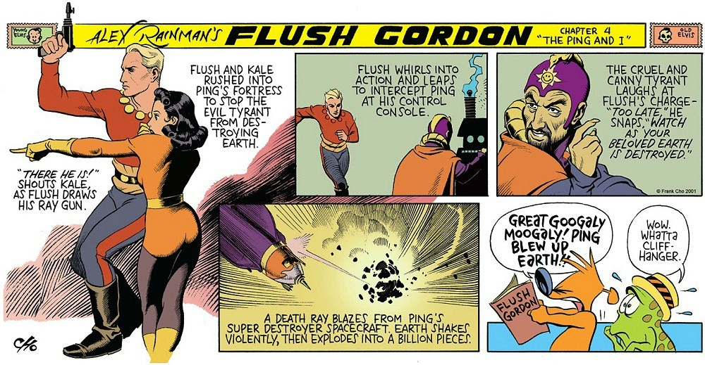 "Cho's parody of ""Flash Gordon"" (click to enlarge)"