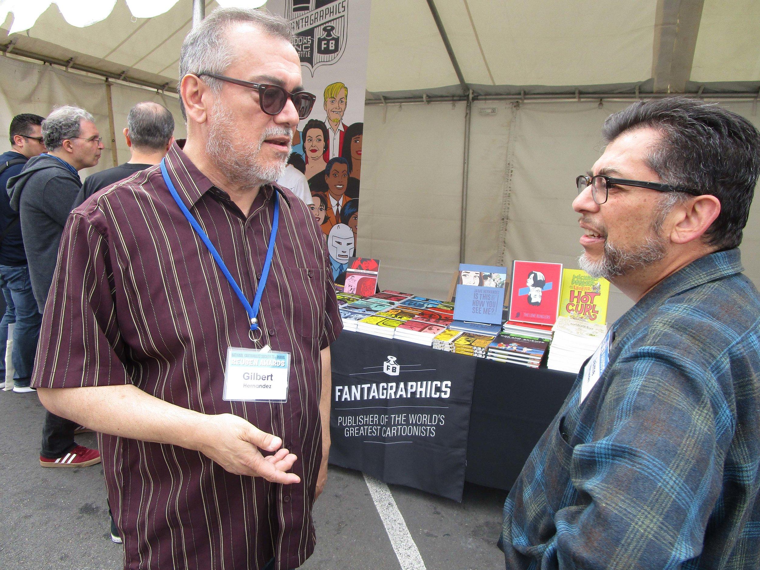 Gilbert (left) and Jaime Hernandez