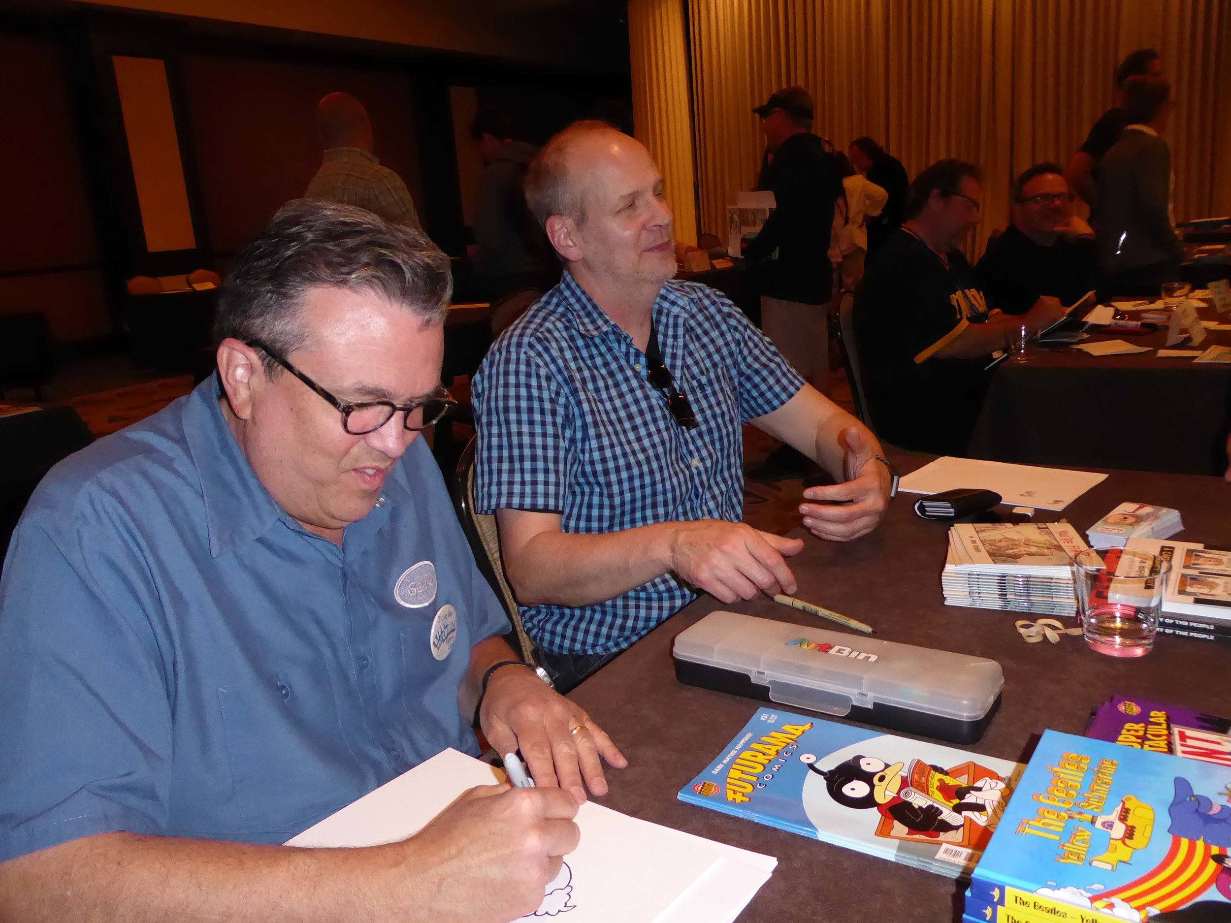Bill Morrison (left) and Rob Rogers
