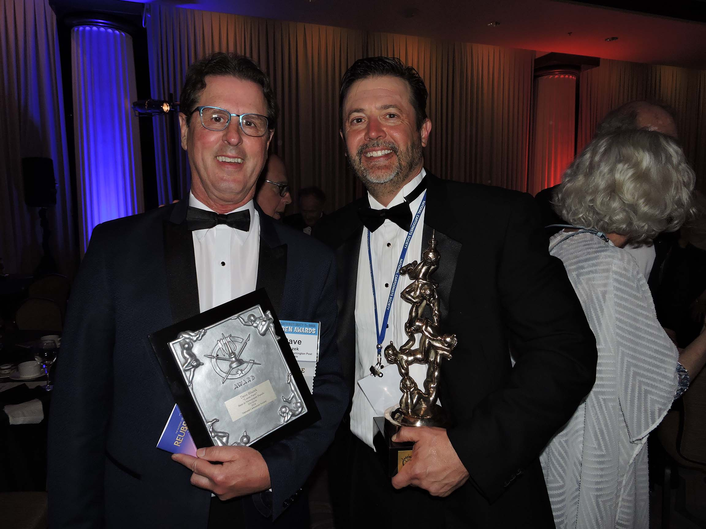 Dave Blazek (left) and Stephan Pastis...