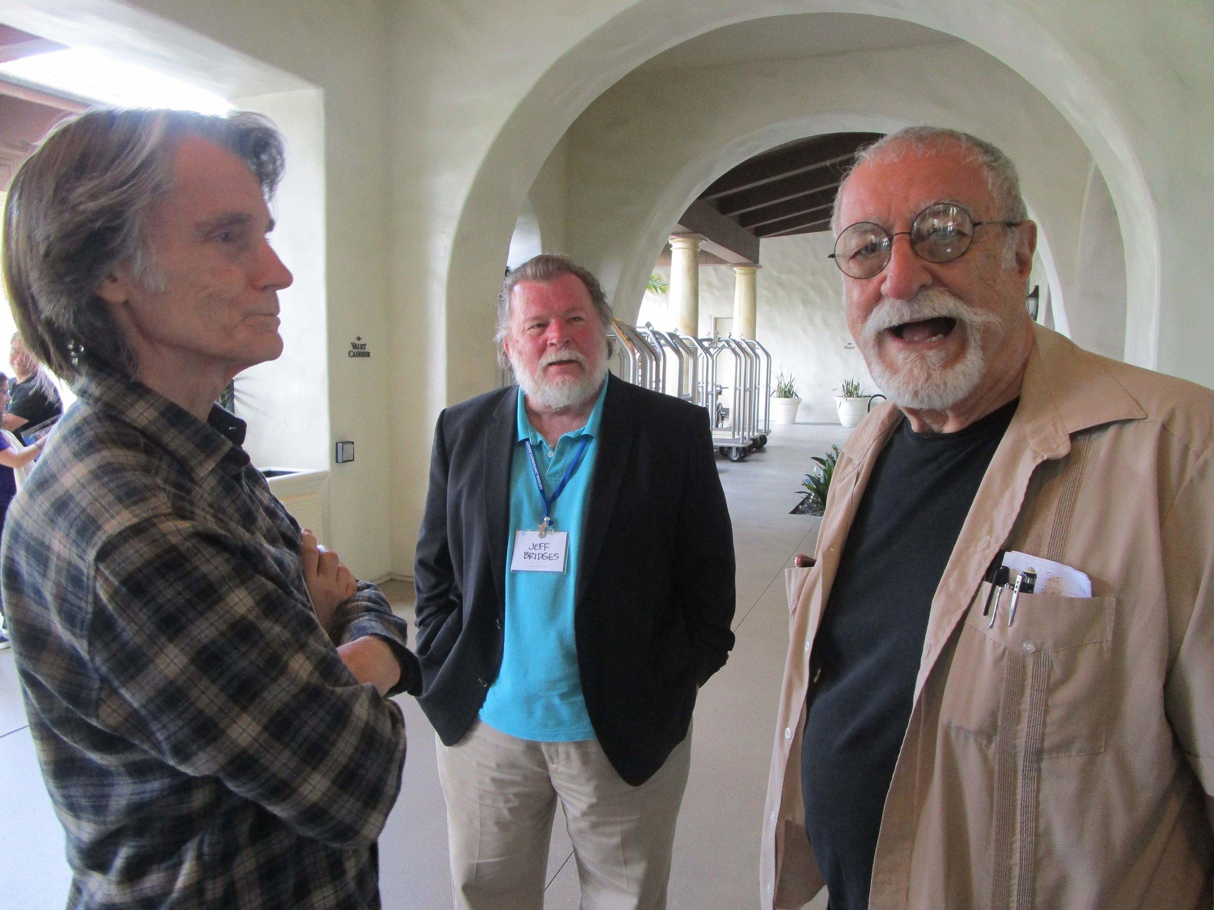 Greg Evans, Jack Pittman and Sergio Aragones (l-r)