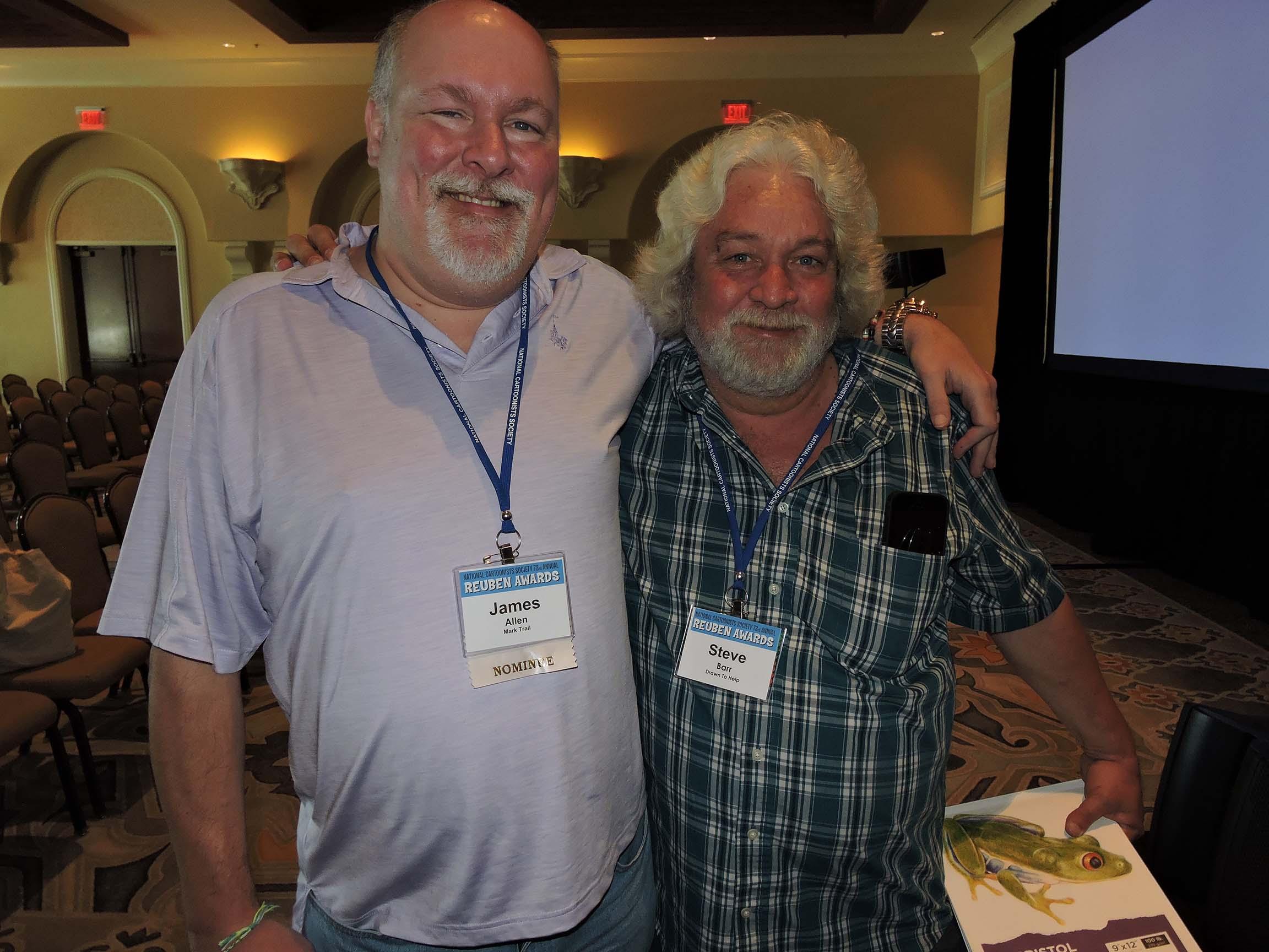 James Allen (left) and Steve Barr