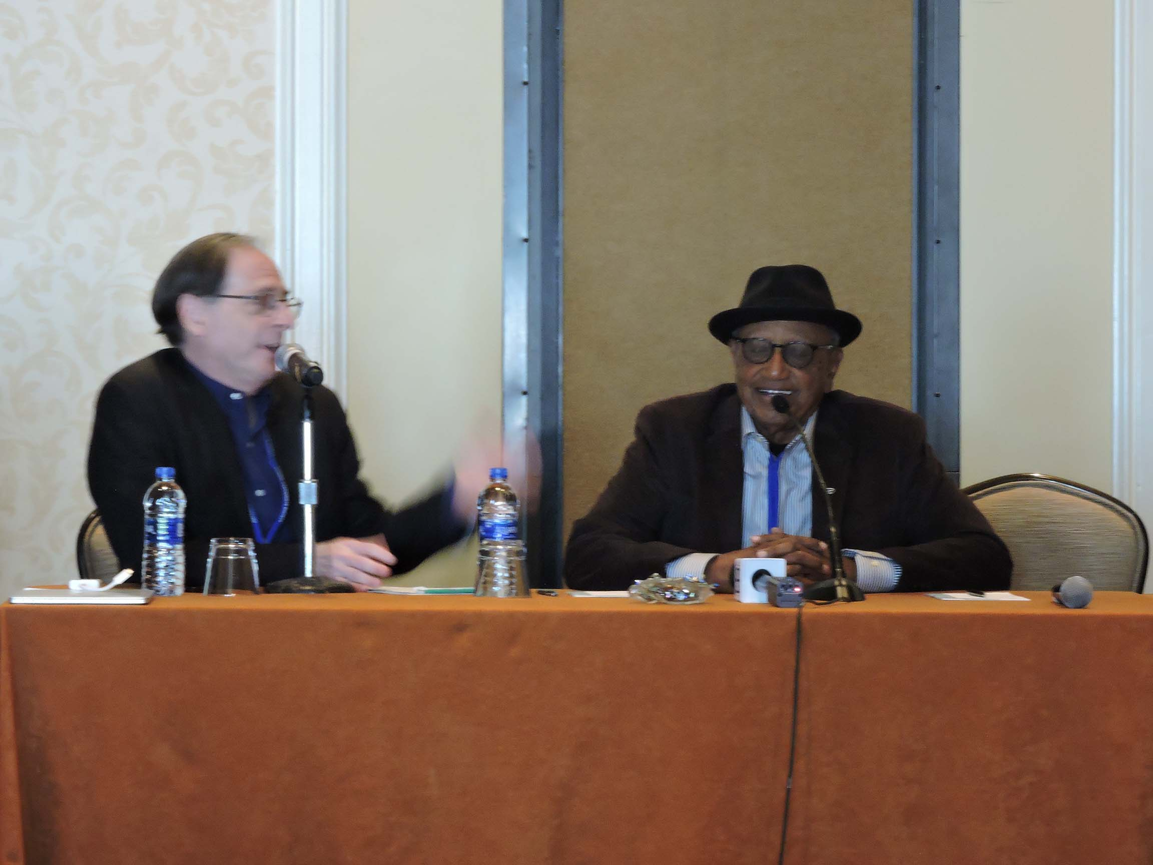 Jerry Beck (left) and Floyd Norman