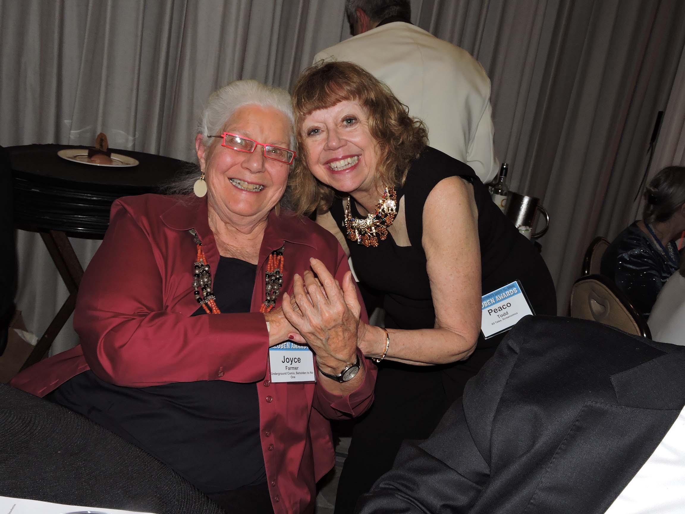 Joyce Farmer (left) and Peaco Todd