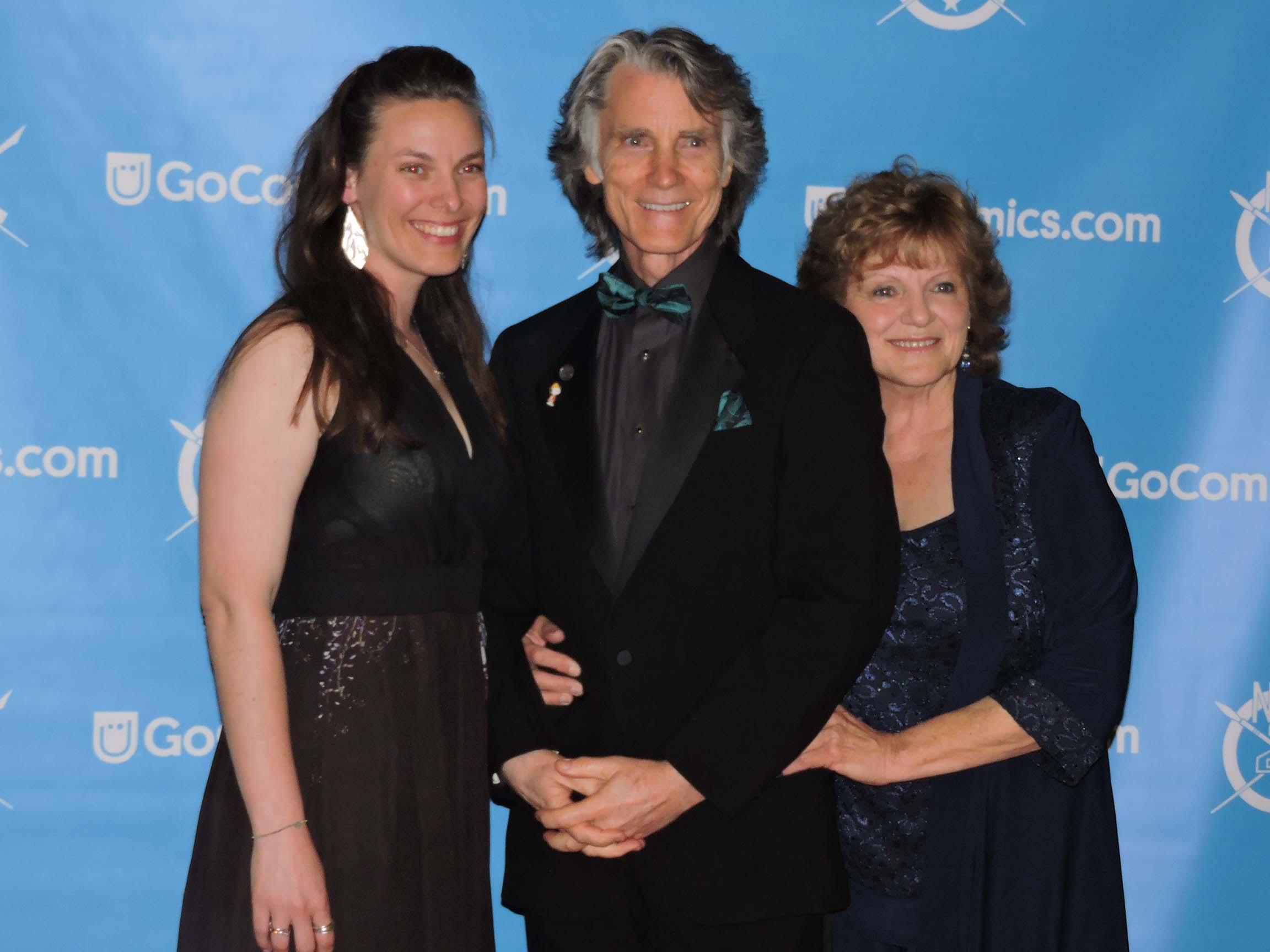 Karen, Greg and Betty Evans (l-r)