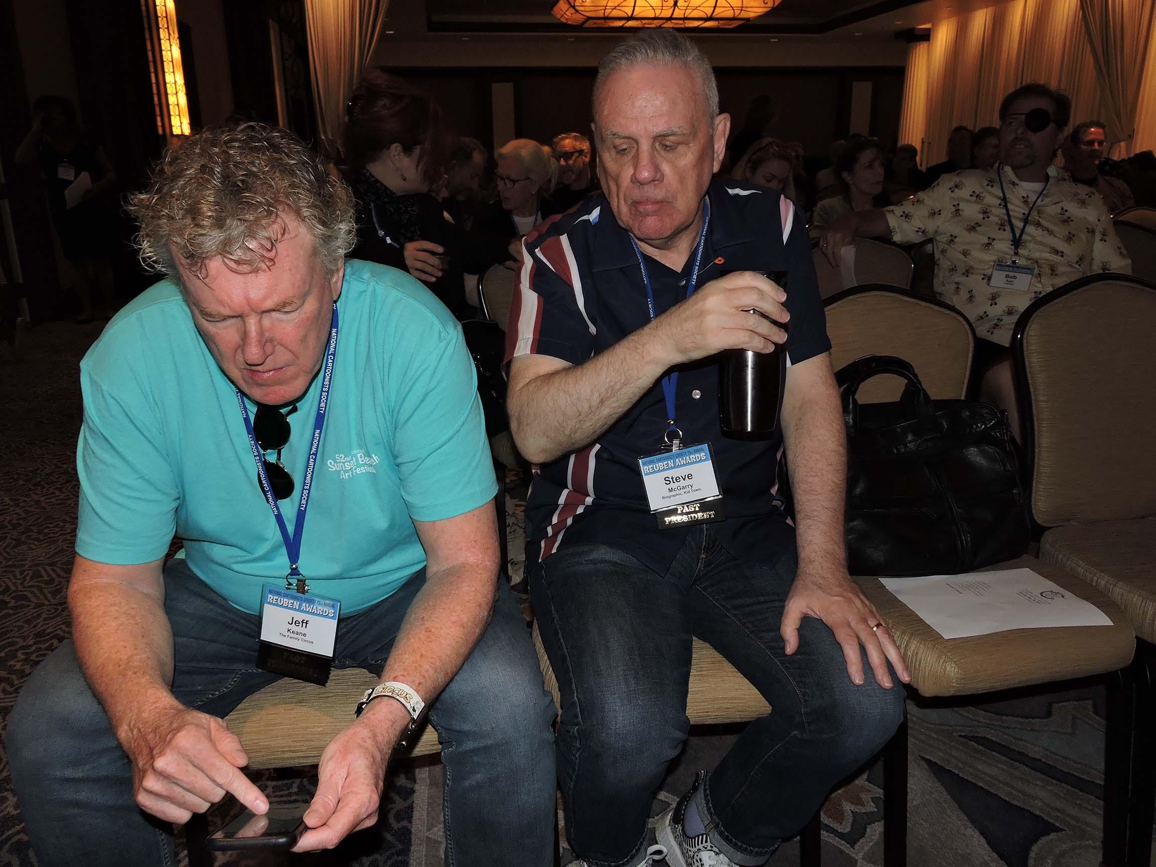 Jeff Keane (left) and Steve McGarry