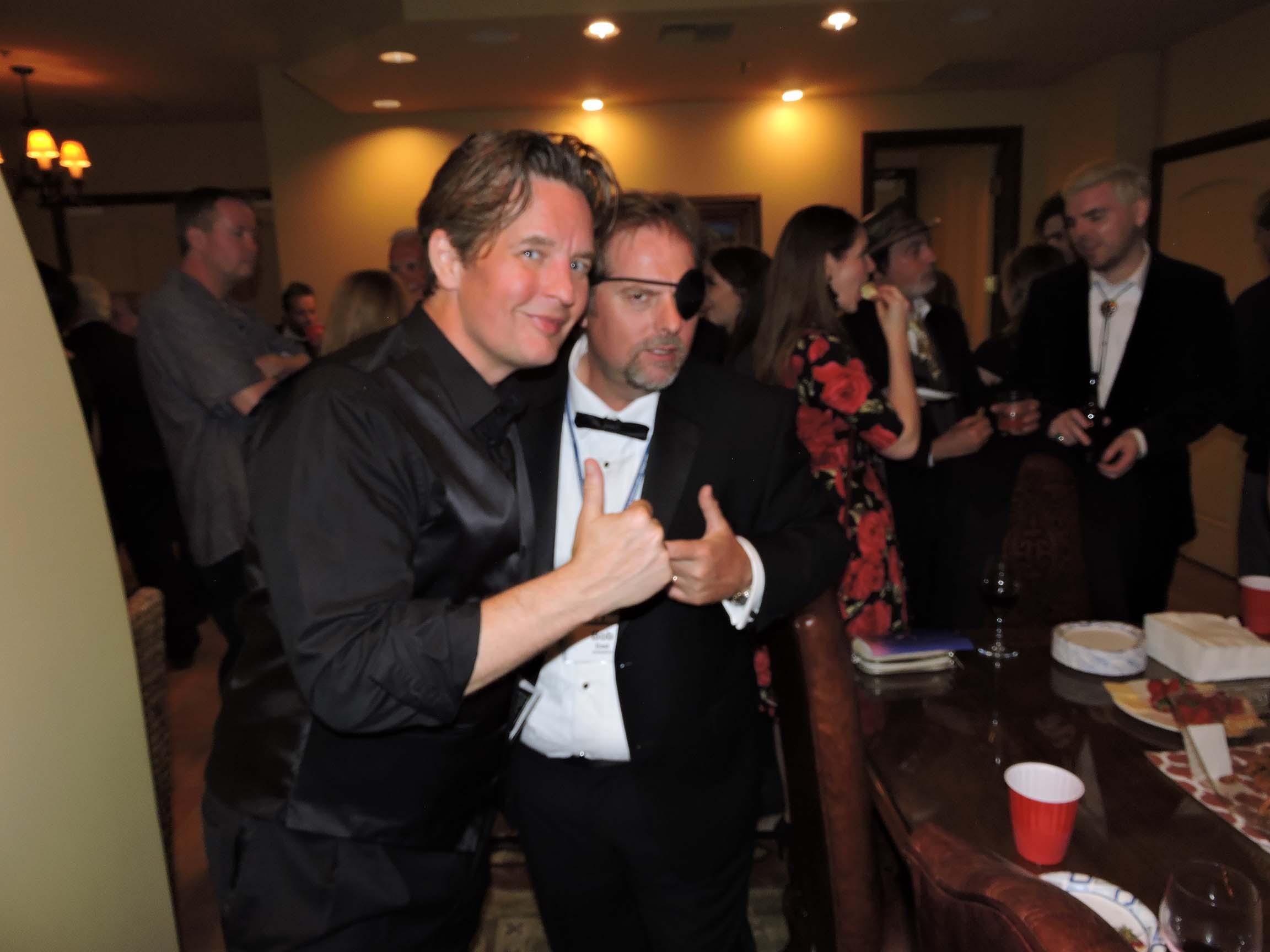 Keelan Parham (left) and Bob East
