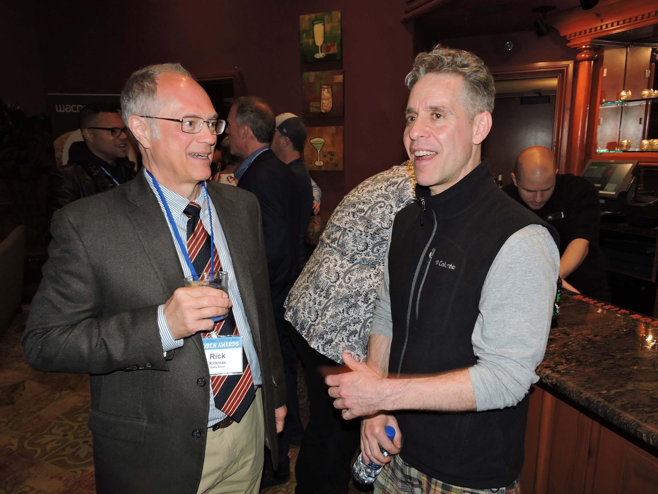 Rick Kirkman (left) and Nick Galifianakis