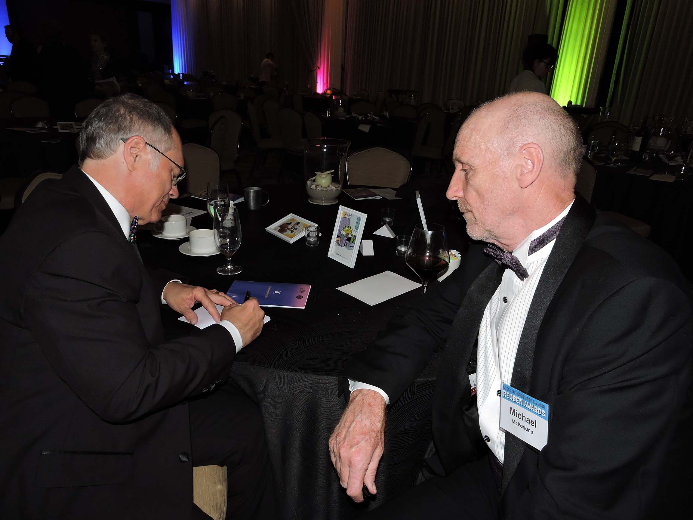 Rick Kirkman (left) and Michael McParlane