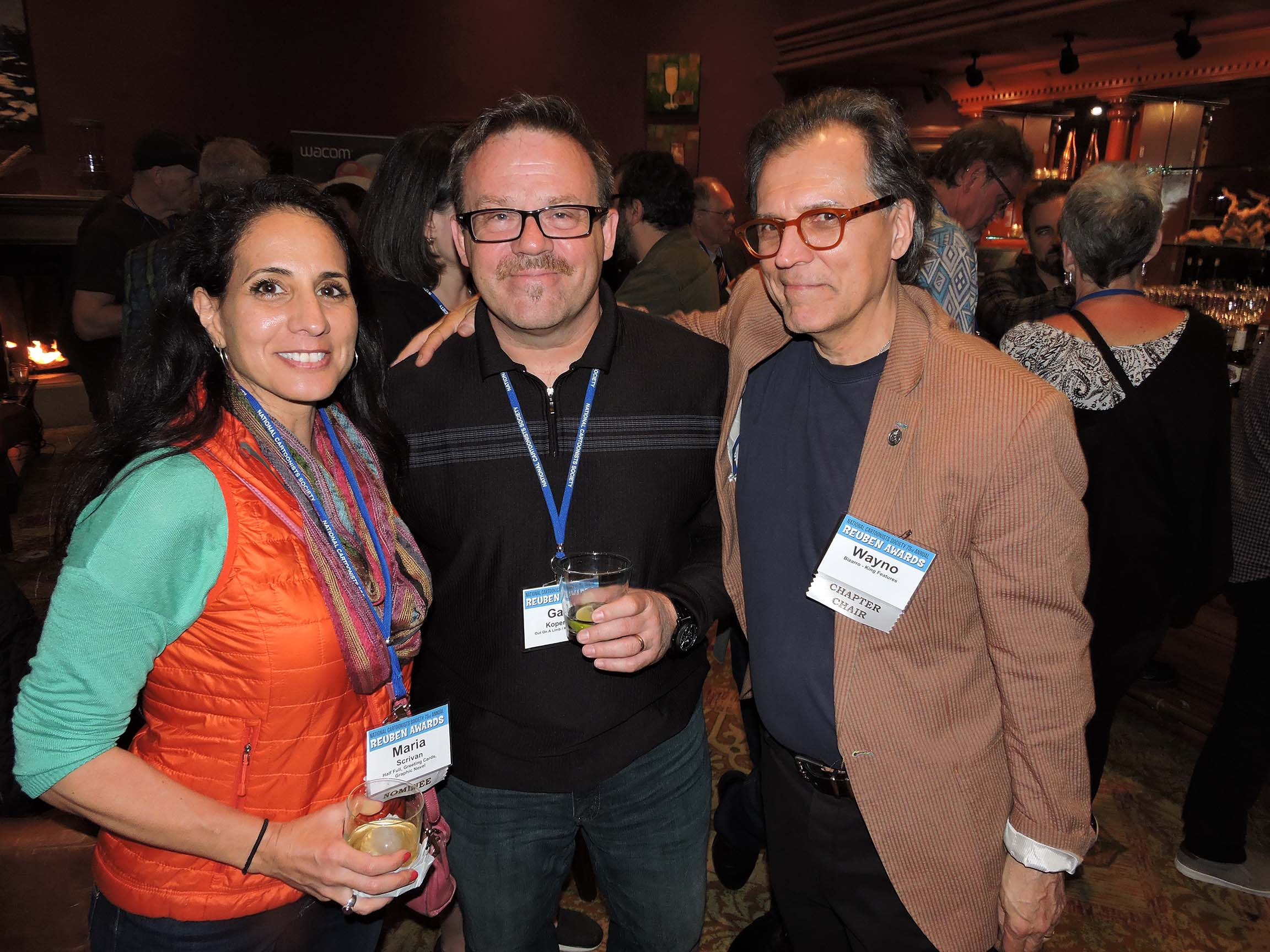 Maria Scrivan, Gary Kopervas and Wayno (l-r)