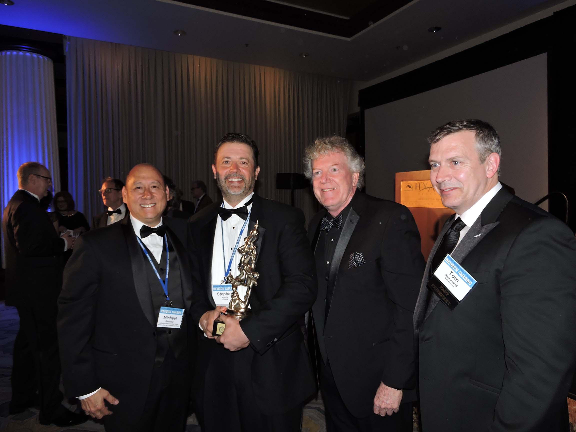 Michael Ramirez, Stephan Pastis, Jeff Keane and Tom Richmond (l-r)