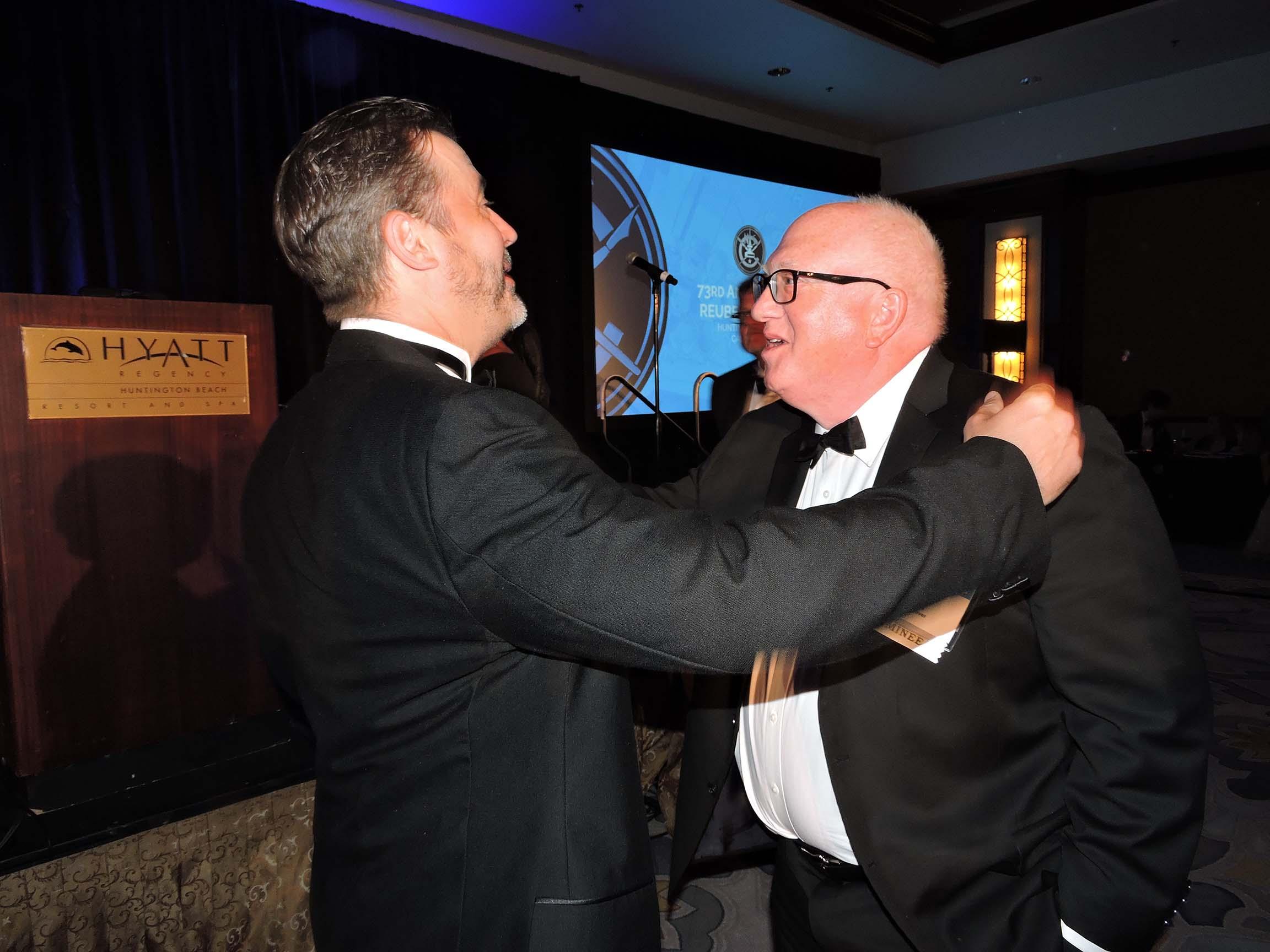Stephan Pastis (left) and Brian Bassett