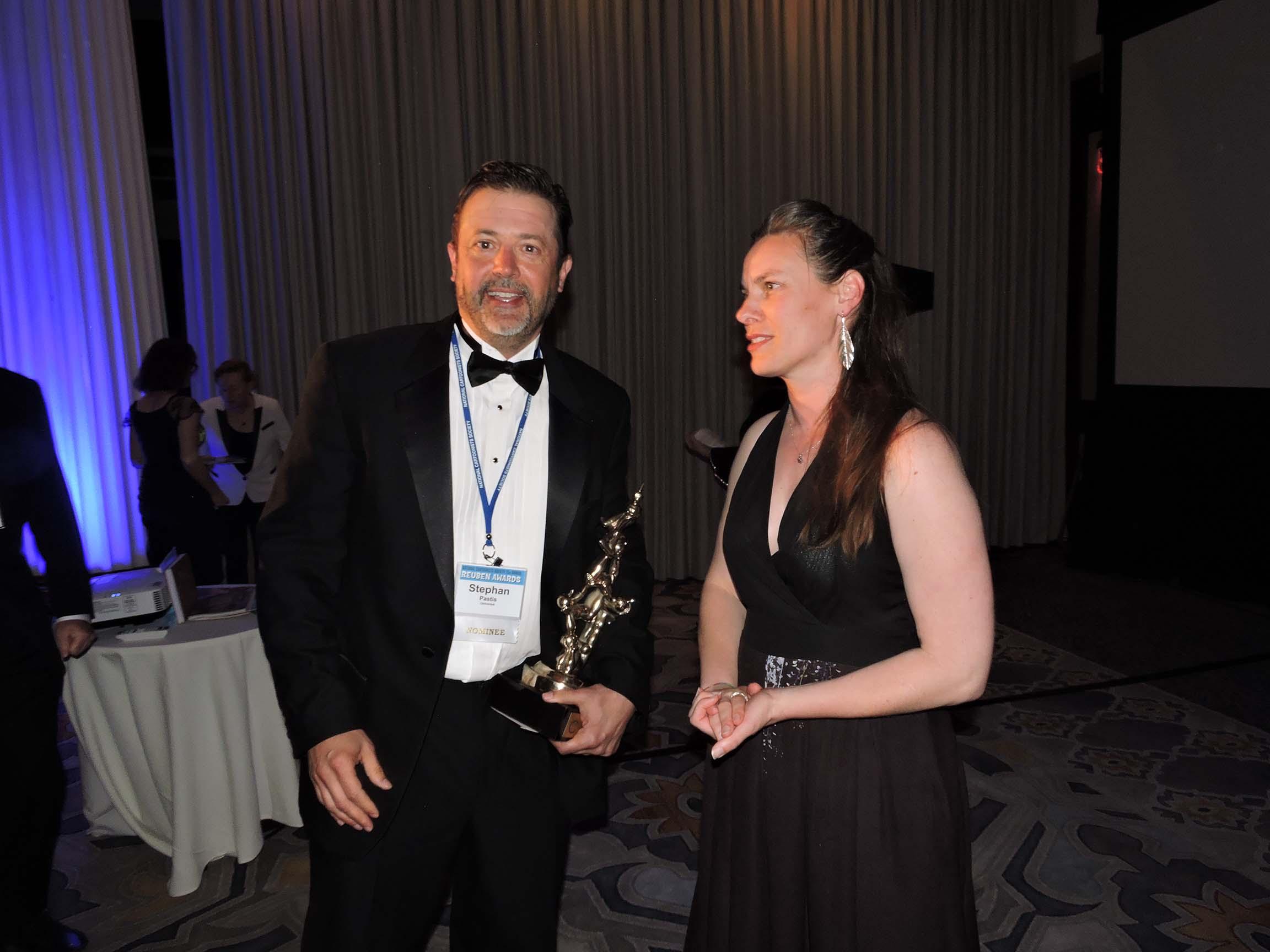 Stephan Pastis and Karen Evans