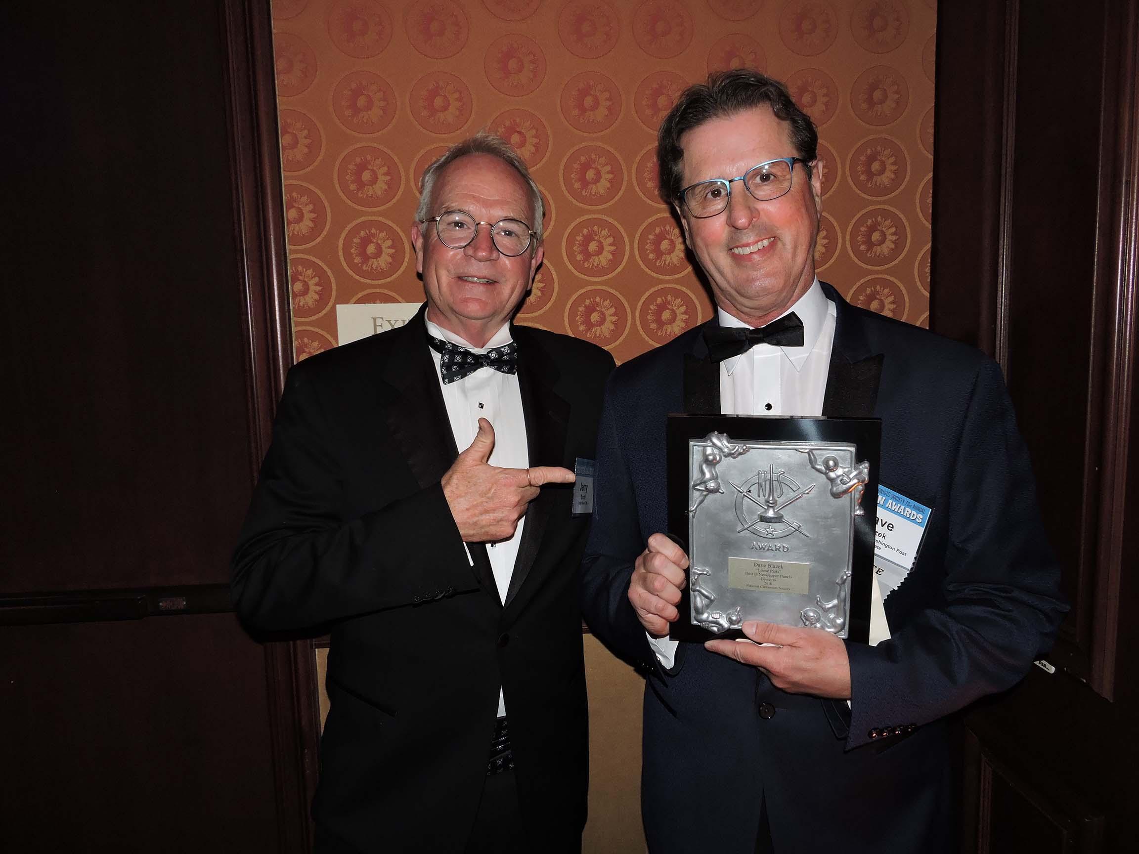 Jerry Scott (left) and Dave Blazek...